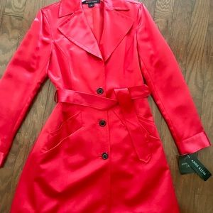 Anne Klein satin trench